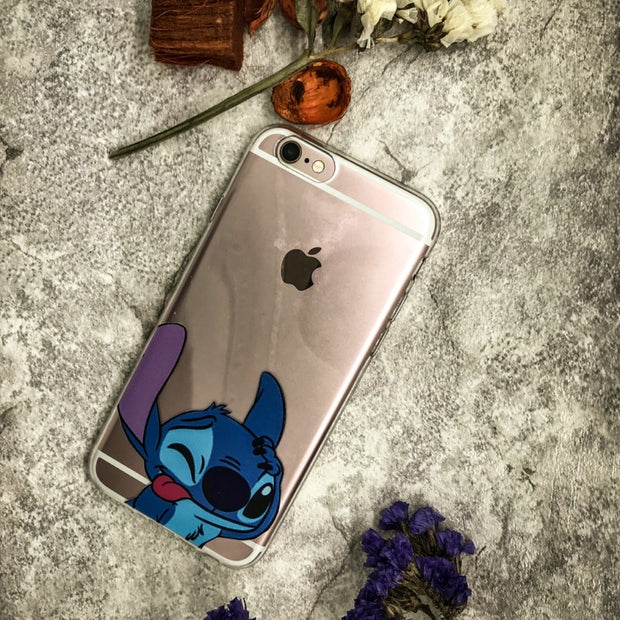 For Iphone 7 Cover Transparent Soft TPU Case Stitch Coque For Iphone 8 X 5s 5 Se Funda For Iphone 6 6s 7 8 Plus Phone Case
