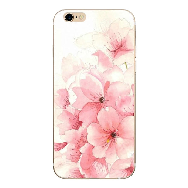 For Iphone 8 Plus Case Luxury Pink Crown Cat Soft TPU Silicone Case Cover For Iphone 6 6S 5 5S SE 7 8 8Plus Back Cover