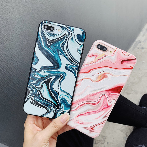 For Iphone XS MAX Case 3D Embossed Marble Cover On 6 6s 7 8 Plus Case Conque For IPhone X 7 8 Plus Candy Color Fundas Case