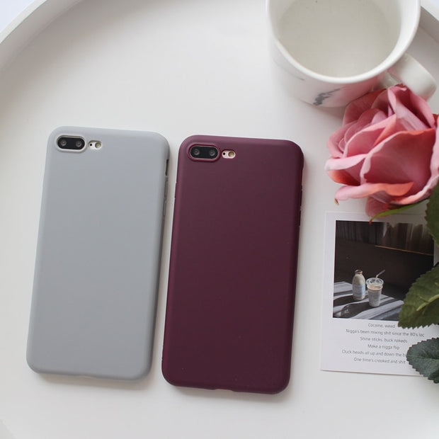 For Iphone XS Max X XR XS Case Matte Scrub Soft Silicon Case For Iphone 7 8 6 6s 7Plus Tpu Case Capa Cover