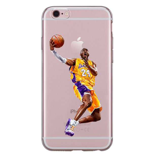 For Iphone XS Max XR X 8 7 6 6S Plus 5 5S SE 5C 4S Case Soft TPU Silicone Cool Ronaldo Messi Kobe Jordan James Star Phone Cover