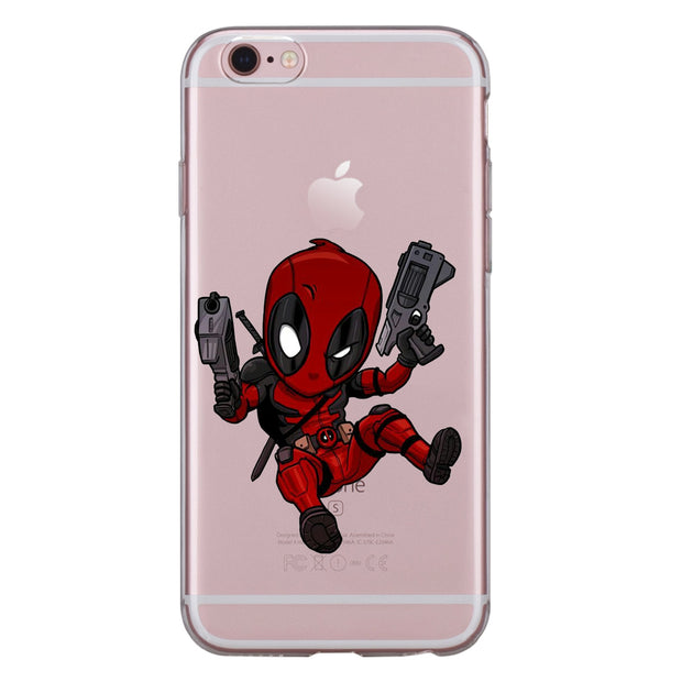 For Iphone XS Max XR X 8 7 6 6S Plus 5 5S SE 5C 4S Case Soft TPU Silicone Cute Iron Man Spiderman Deadpool Hulk Star Phone Cover
