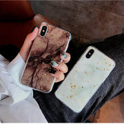 For Iphone Xs Max Case Marble Luxury Brand Bling Glitter Gold Cover Case For Iphone 7 8 7plus 8plus 6 XR X S Phone Accessory