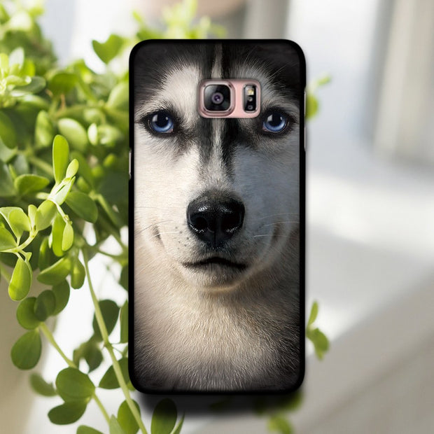 For The Best-selling Family Pet Animal Heads Phone Hard Shell Case Cover For Sansung Galaxy S4 S5 MINI S6 Edge S7 S7EDGE S8 S8P
