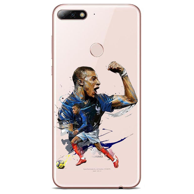 France Soccer Football Pogba Griezmann Mbappe Phone Case For Huawei P8 P9 P10 P20L P10 P20Plus SOFT TPU Transparent Phone Cover