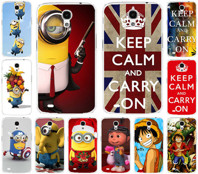 Free Shipping Painted Case For Samsung Galaxy Mega 6.3 I9200 9200 Despicable Me Minions Piece Cartoon PC Phone Case Cover Shell