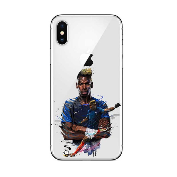 French Football Team Mbappe Griezmann Kante Olivier Giroud Soft Silicone Phone Case For Iphone 6 6S XR XS Max 8 PLUS 5S SE X