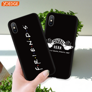 Friends TV Show Funny Central Perk Park Phone Case For IPhone 6 S 7 8 Plus 5 5S SE XR XS Max Fashion Black TPU For IPhone X Capa