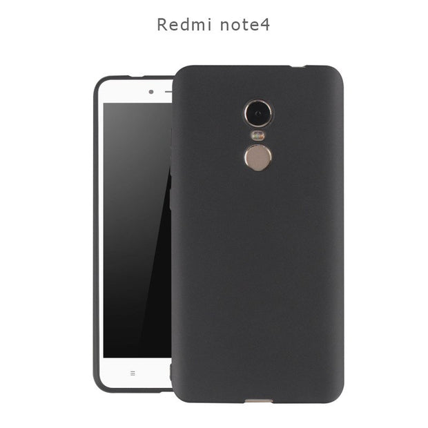 Frosted Matte Soft TPU Case For Xiaomi Mi8 SE Max3 Pro 6X/A2 5X A1 Redmi S2/Y2 6A/6 Note5 4Pro 4X 5 Plus 5A 4A Black Back Cover