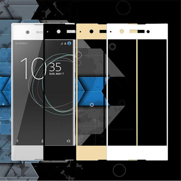 Full Cover Protective Glass For Sony Xperia XA 1 XA1 XA2 Ultra Plus XZ1 Compact XZ S Screen Protector Case For Xperia XZ Premium