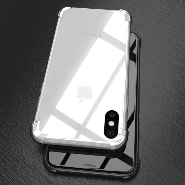 Full Protect Anti-knock TPU Silicone Case For IPhone X XS XR XS Max 8 7 6 6S Plus Transparent Back Cover For IPhone6 Plus