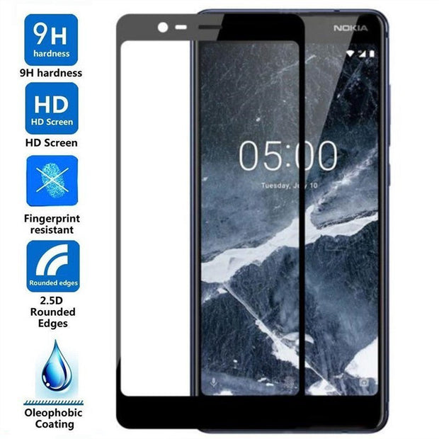 Full Protector Cover For Nokia 5 Glass For Nokia 6.1 2.1 3.1 2 X5 5.1 Plus 2018 8 7 6 3 2017 Protective Glass Tempered Film Case