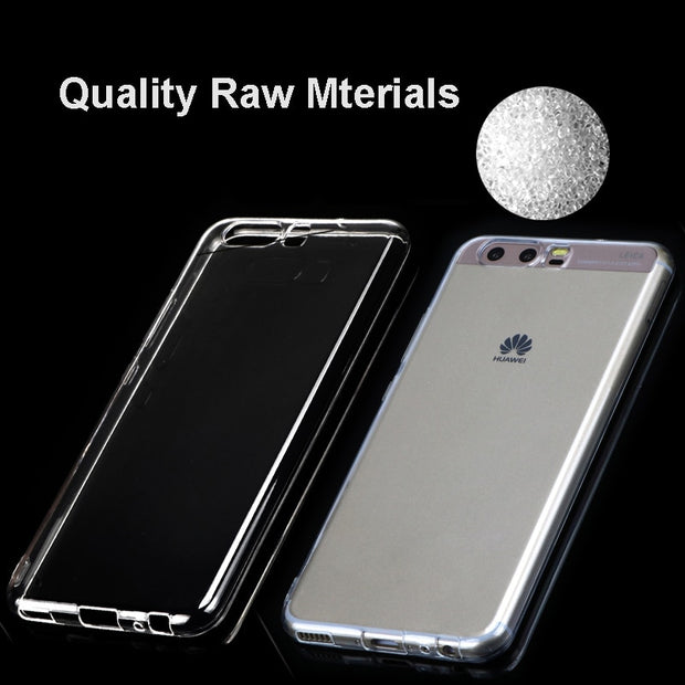 Fundas Clear Case For Huawei P10 Soft Silicone Cover Transparent Coque Cases For Huawei P9 P8 Lite 2017 Plus Mini Case