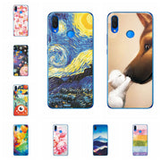 Fundas For Huawei Nova 3i 6.3'' Scenery Phone Case For Huawei P Smart Plus Chic Flower Coque Capa Silicone Back Cover