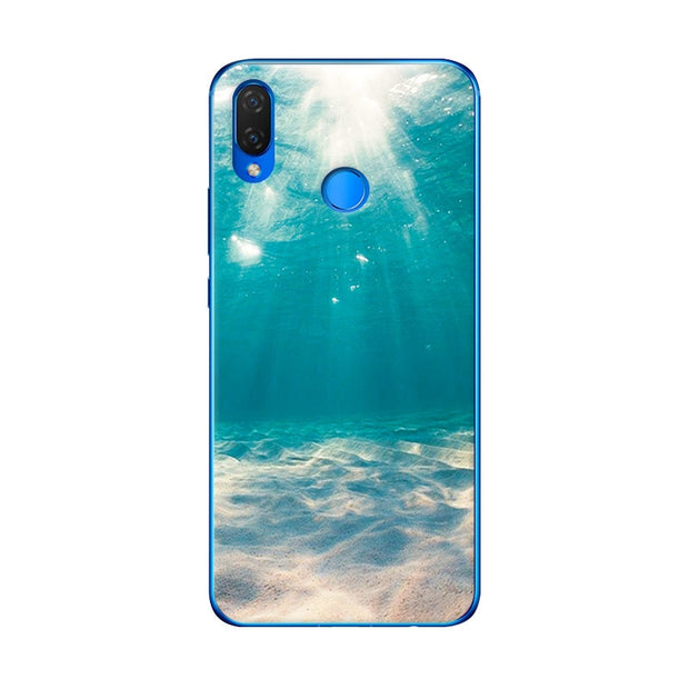 Fundas For Huawei P Smart Plus 6.3'' Scenery Phone Case For Huawei P Smart Plus Chic Flower Coque Capa Silicone Back Cover