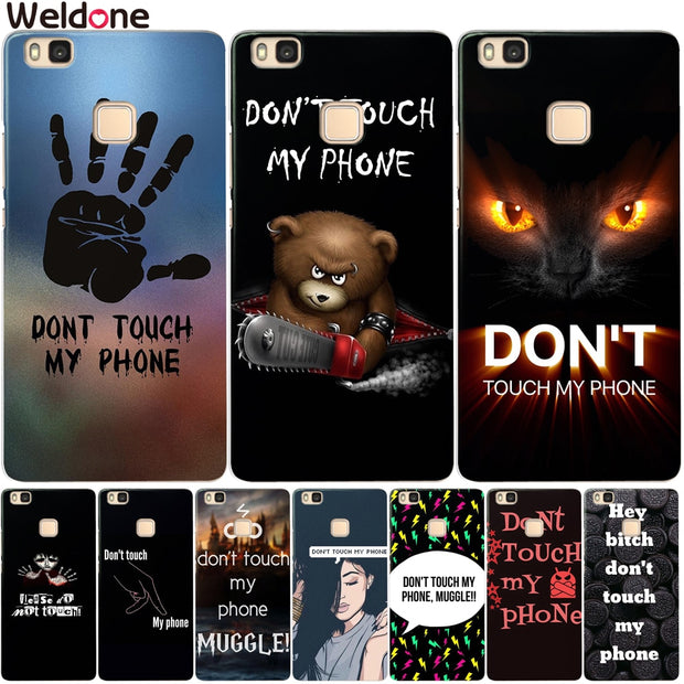 Funny Don't Touch My Phone Case For Huawei P20 Lite Pro P10 Plus P8 P9 Lite 2017 Honor 9 6A 6X Silicone Cartoon Case Cover Etui