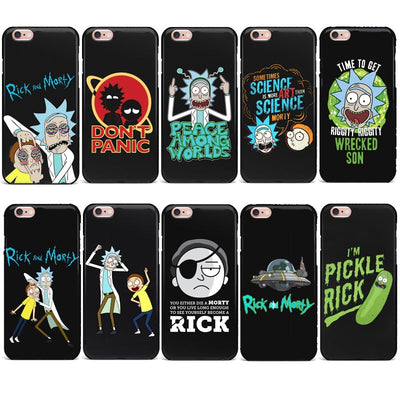 Funny Rick And Morty Cartoon Anime Phone Case For IPhone 7 4 5S SE 6s 8 Plus Soft TPU Silicone Cover For IPhone X XR XS MAX Case
