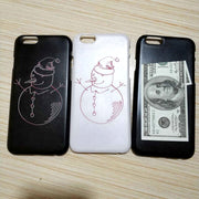 Funny Snowman 100 Dollars Money Moon Flower Sexy Girl Phone Case For IPhone X XS 8 6 6S 7 Plus 5 5S SE Cover For Women