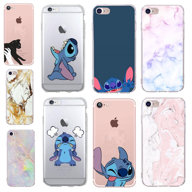 low priced 54fa0 e27b0 Funny Stitch Phone Case Cover For Iphone Xs Max X Xr Case Coque Cute Flower  Marble Mickey Minnie Mouse For Fundas Iphone Xs