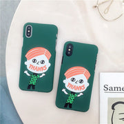 Funny Boy Phone Case For IPhone X Cases Fashion Graffiti Creativity Matte Back Cover For Iphone 6 6s 7 8 Plus Phone Case Covers