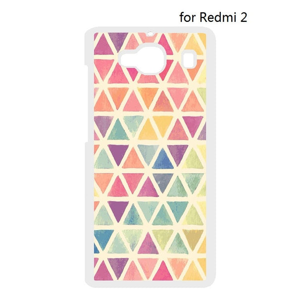 Geometric Triangle Cover Case For Huawei Ascend P7 Mini P8 P9 P10 Lite P9 P10 Plus For Xiaomi Redmi 2 3 Note 2 3