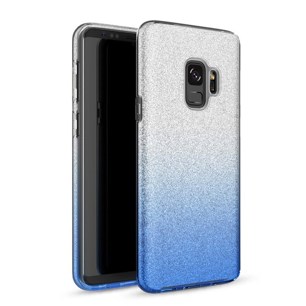 GerTong Gradient Glitter Shine Case For Samsung Galaxy S8 S9 Plus S7 Edge PC TPU Cover Silicone Bling Fundas For Samsung S9 Plus