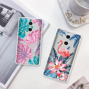 GerTong Pattern Phone Case For Xiaomi Redmi Note 5 6 7 Pro 4X 4A 5A 6A Lovely Leaf Painted TPU Cover For Redmi S2 4X Capa