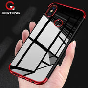 GerTong Plating Case For Xiaomi Mi 8 Mi A1 6 6X 5X Mix 2 2S Redmi Note 5A 4A Prime 4 4X 5 Pro Plus S2 Soft TPU Back Cover Case
