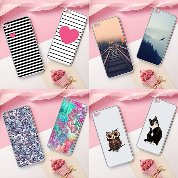 GerTong Soft TPU Cover Case For Xiaomi Redmi 4A Note 4X 4 Pro 3S Mi5 Mi6 Mi6X MiA2 Mi8 Mi8 SE Coque Capa Patterned Phone Cases
