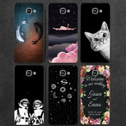 GerTong Soft TPU Painted Phone Case For Samsung Galaxy S7 S6 Edge S8 S9 Plus A3 A5 A7 J3 J5 J7 2017 EU Silicone Case Cover Coque
