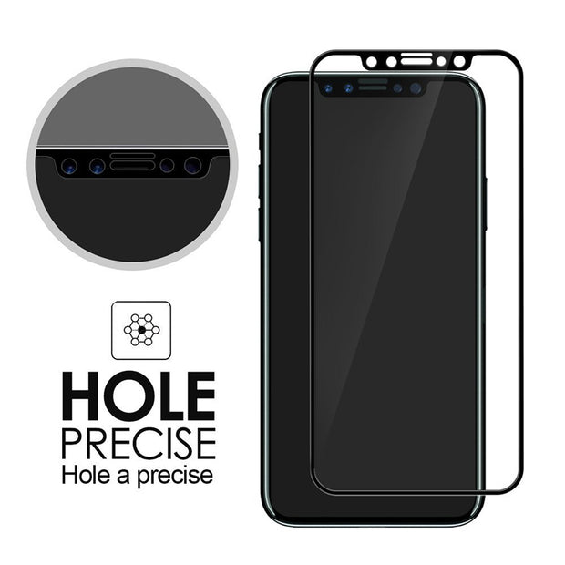 Glass For IPhone XS Max XR X Glass Screen Protector Case For Apple IPhone 7 8 Plus 6 6S 10 Full Cover Tempered Glass Cover Film