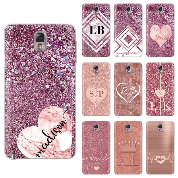 separation shoes 37e48 2bcc5 Glitter Cute Love Case For Samsung Galaxy Note 3 Case 5.7