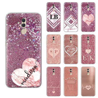 "Glitter Cute TPU Soft Phone Case For Huawei Mate 20 Lite Case 6.3"" Transparent Silicon For Huawei Mate 20 Lite Cases Cover Coque"