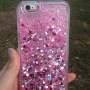 Glitter Flowing Case For IPhone 5S SE Bling Love Liquid Quicksand Phone Cases For IPhone 5 6 6S 7 8 Plus X Girly Cute Cover Capa