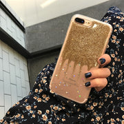 Glitter Star Phone Case For Coque Iphone 7 8 6s 6 Plus Silicone Soft TPU Slim Luxury Girl Stand Pattern For Iphone 6 Plus Cover
