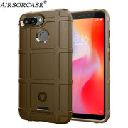 Global For Xiaomi Redmi 6 Redmi6 Case Soft TPU Silicone Rugged Shield Back Cover For Xiaomi Redmi 6A Case Anti-knock Armor Cover