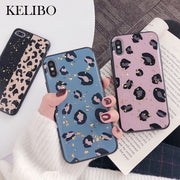 Gold Foil Bling Soft Shell Phone Case For Iphone X XR XS MAX INS Wind Leopard All-inclusive For Iphone 8 7 6 6s Plus Back Cover