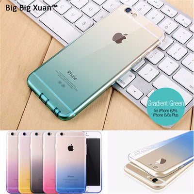 Gradient Color Phone Case For IPhone XS MAX XR 7 8 Plus 6 6s Plus X 10 Ultra Thin TPU Case Soft Silicone Cover Slim Funda Coque
