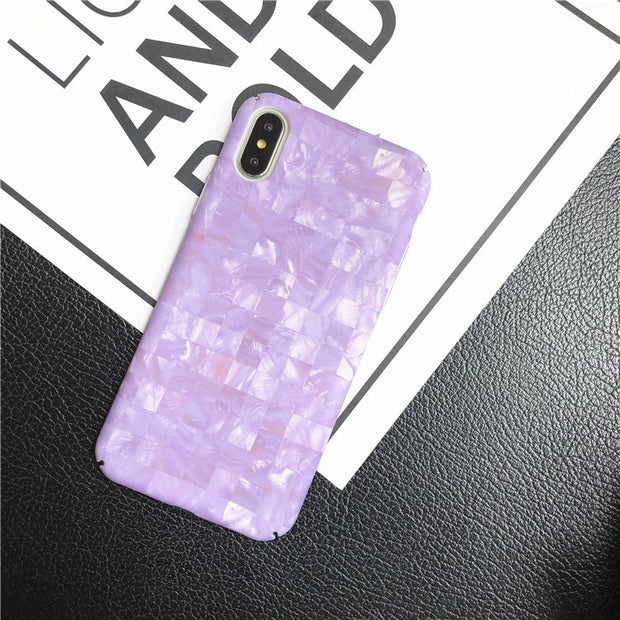 Granite Marble Texture Pattern Phone Cases For IPhone 7 6 6S Plus Stone Matte Hard Plastic Back Cover For IPhone 8 Plus X Coque