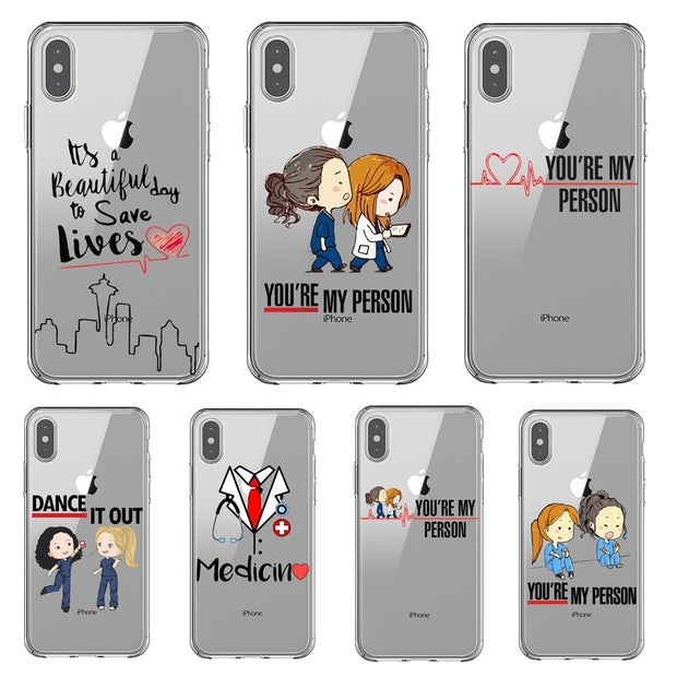 new styles 54dc2 32ba3 Greys Anatomy You're My Person Phone Case For Coque IPhone X 8 7 Plus 6 6s  Plus SE 5S XS MAX XR XS TPU Soft Silicone Case Cover