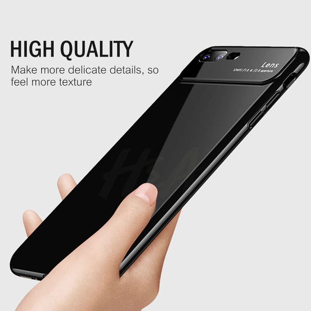 H&A Luxury Tempered Glass Phone Case For IPhone X 8 6 6s 7 Plus Protective Cover For IPhone 7 8 Plus Shookproof Glass Case Cover