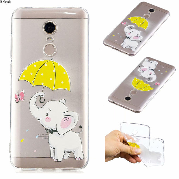 H-Goods Panda Elephant Case Coque For Xiaomi Redmi 5 Plus 4X 5A Note 4 4X 5A Soft TPU Cover For Sony L2 XA2 XZ2 XZ1 Cover Case