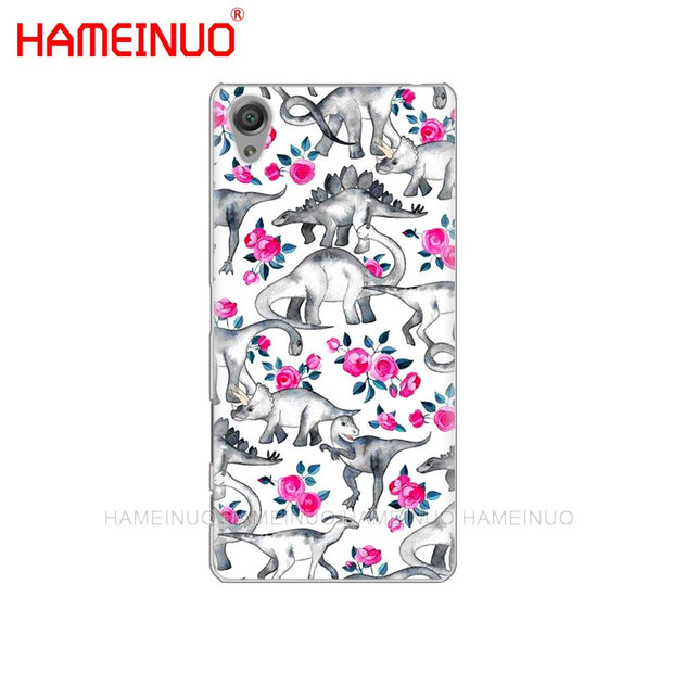 HAMEINUO Animal Dinosaur Cover Phone Case For Sony Xperia Z2 Z3 Z4 Z5 Mini Plus Aqua M4 M5 E4 E5 E6 C4 C5