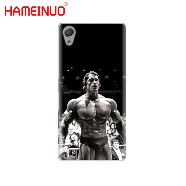 HAMEINUO Arnold Schwarzenegger Bodybuilding Cover Phone Case For Sony Xperia Z2 Z3 Z4 Z5 Mini Plus Aqua M4 M5 E4 E5 E6 C4 C5