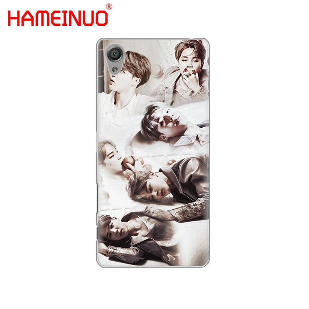 HAMEINUO BTS Bangtan Boys JIMIN Cover Phone Case For Sony Xperia Z2 Z3 Z4 Z5 Mini Plus Aqua M4 M5 E4 E5 E6 C4 C5