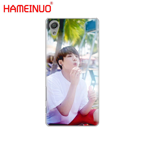 HAMEINUO BTS Bangtan Boys JUNG KOOK Cover Phone Case For Sony Xperia Z2 Z3 Z4 Z5 Mini Plus Aqua M4 M5 E4 E5 E6 C4 C5