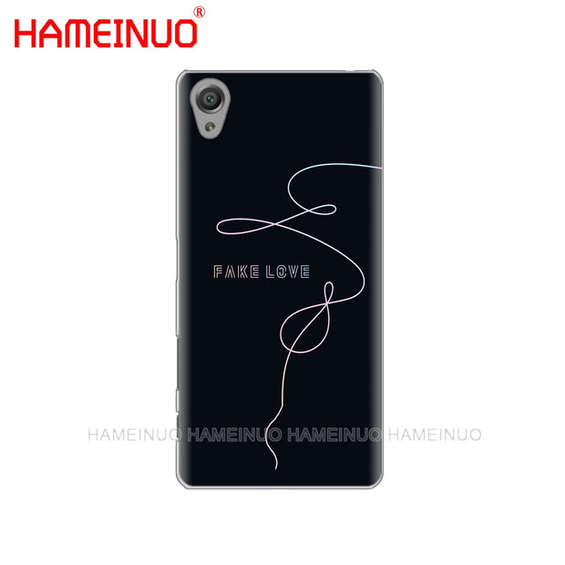 HAMEINUO BTS FAKE LOVE Cover Phone Case For Sony Xperia Z2 Z3 Z4 Z5 Mini Plus Aqua M4 M5 E4 E5 E6 C4 C5