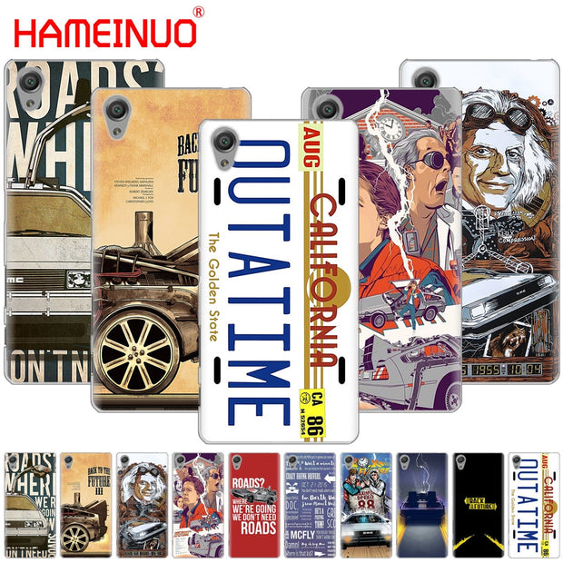 HAMEINUO Back To The Future Cover Phone Case For Sony Xperia Z2 Z3 Z4 Z5 Mini Plus Aqua M4 M5 E4 E5 E6 C4 C5