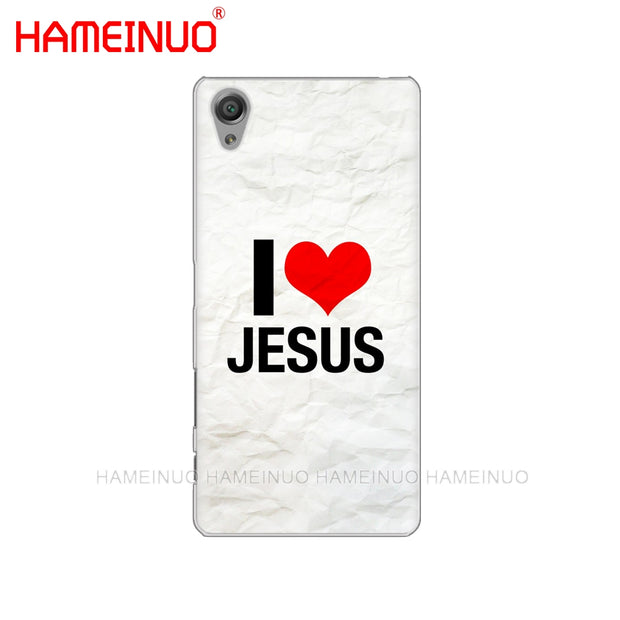 HAMEINUO Bible Verse Philippians Jesus Cover Phone Case For Sony Xperia Z2 Z3 Z4 Z5 Mini Plus Aqua M4 M5 E4 E5 E6 C4 C5