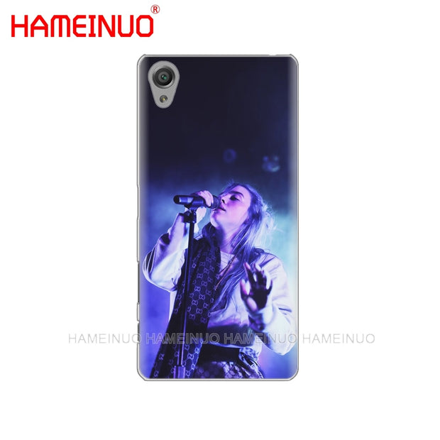 HAMEINUO Billie Eilish 13 Girl Cover Phone Case For Sony Xperia Z2 Z3 Z4 Z5 Mini Plus Aqua M4 M5 E4 E5 E6 C4 C5